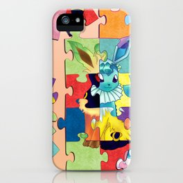 Eeveelution Poke Puzzle iPhone Case