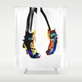 Colorful pop art shoes Shower Curtain