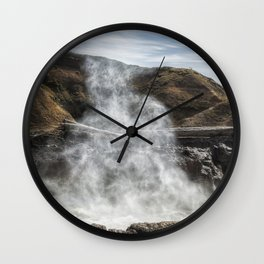 Mist Creature Rising from Spouting Horn Wall Clock