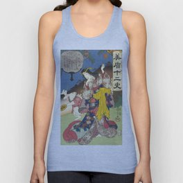 Draw of the Hare - Japanese Art Unisex Tank Top