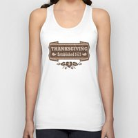thanksgiving Tank Tops featuring Thanksgiving Established 1621  by Cosmik Monkey