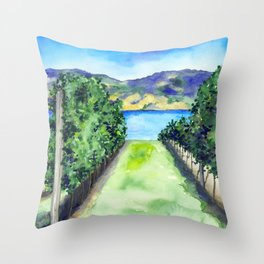 Between the Vines Throw Pillow