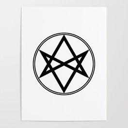 Men of Letters Symbol Black Poster