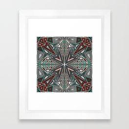 Tribal Grafitti 4 Symmetrical design Framed Art Print