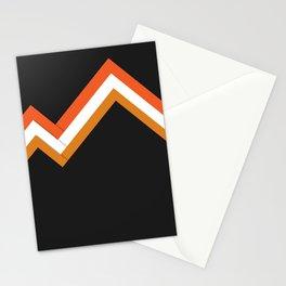 Athletic Retro Orange #kirovair #home #decor #retro #orange #gymwear #athletic #design Stationery Cards