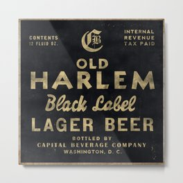 Old Harlem Lager Beer vintage advertisment poster Metal Print