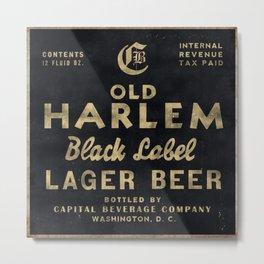 Old Harlem Lager Beer vintage advertisment poster Metal Print