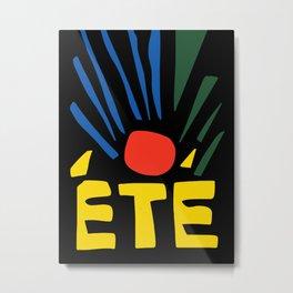 Summer French Art Minimal Metal Print