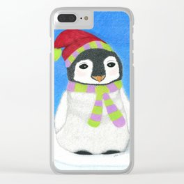 Merry O'Penguin Clear iPhone Case
