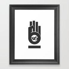 s6_hand_tee_1 Framed Art Print