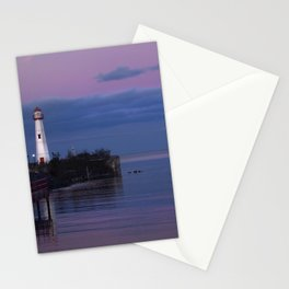 The Lighthouse in St. Ignace Stationery Cards