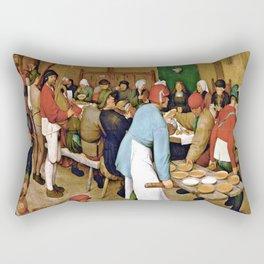 Pieter Bruegel the Elder Peasant Wedding Rectangular Pillow