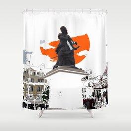 Jeanne Hachette Red Shower Curtain