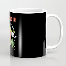 Never Give Up Bird And Frog Coffee Mug