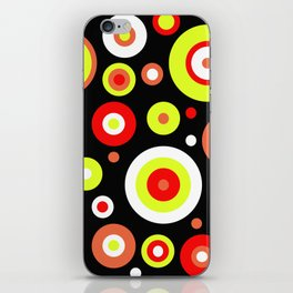 Colorful circles iPhone Skin