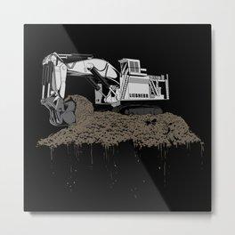 Excavation Metal Print