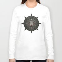 calendars Long Sleeve T-shirts featuring Stone of the Sun I. by Dctr. Lukas Brezak