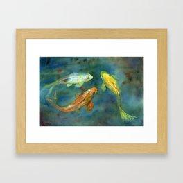 Whispering Koi Framed Art Print