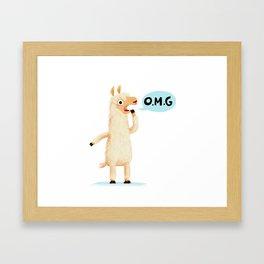 Dramallama Framed Art Print