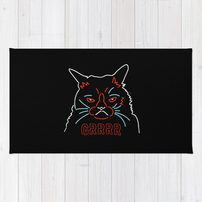 Grrrr Cat Rug