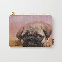 Pug puppy  Digital Art Carry-All Pouch