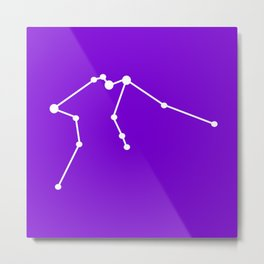Aquarius (White & Purple) Metal Print
