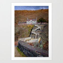 Hospital Steps at Llanberis Quarry Art Print