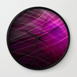 Linear Pattern-Purple Wall Clock