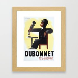 Vintage Advertising Poster - Dubonnet by A.M. Cassandre - Vintage French Advertising Poster Framed Art Print