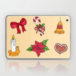 Christmas pattern (#2 yellow) Laptop & iPad Skin