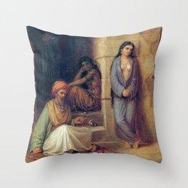 John William Waterhouse The Slave 1872 Throw Pillow