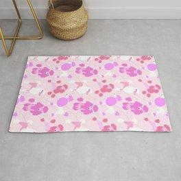 50s Pink Poodle Skirt Rug
