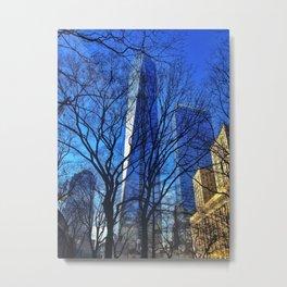 WTC1 from St Paul's Chapel Metal Print