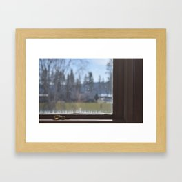 Calcium Window Framed Art Print