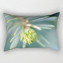 Tip of the fir tree branch Rectangular Pillow