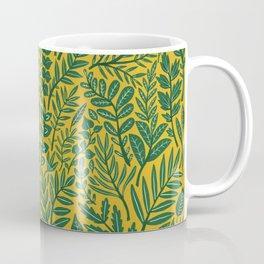 Green Botanical Damask Coffee Mug