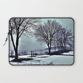 Winter Trees by the Lake Laptop Sleeve