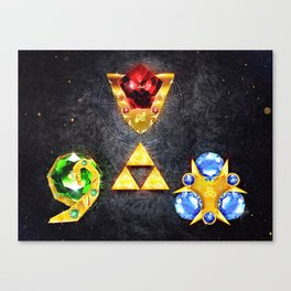The Timeless Legend of Zelda Inspired Spiritual Stones Canvas Print