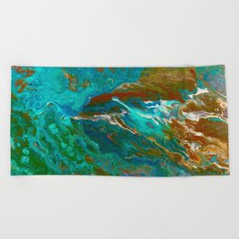 Earth by Noora Elkoussy Beach Towel