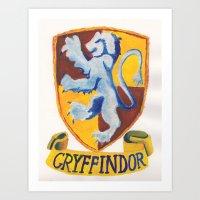 Gryffindor Crest Art Print