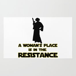 resist march for science Rug