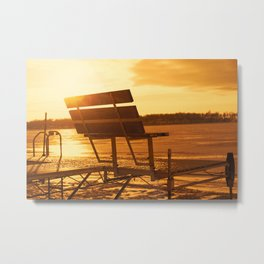 Fishing Dock 2 Metal Print