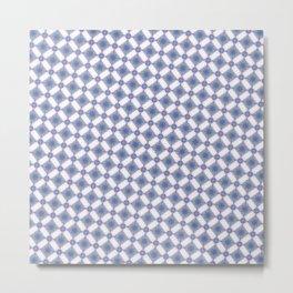 Hynotic blue squares Metal Print