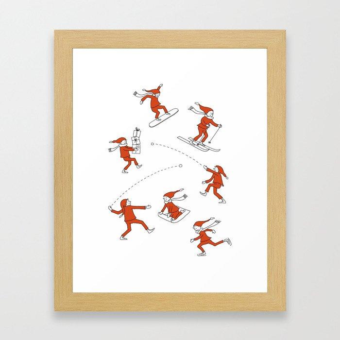 Christmas Elves Framed Art Print