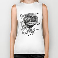 fear and loathing Biker Tanks featuring Fear & Loathing by Saravo Studio