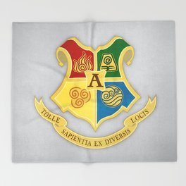 The Avatar School of Bending Throw Blanket