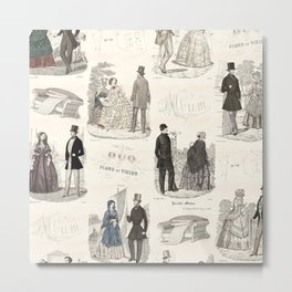 Biedermeier Couples Metal Print