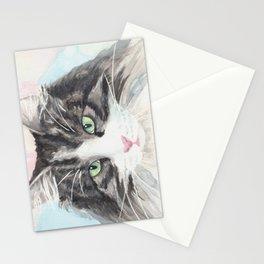 Watercolor Cat 13 My Master Stationery Cards