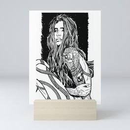 Tattoo Lady Mini Art Print