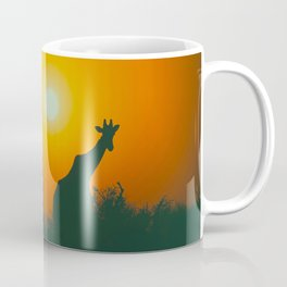 Lonely Sunset Giraffe Coffee Mug